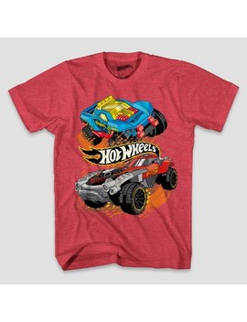 Boys' Hot Wheels Short Sleeve T Shirt   Red Heather by Shop All Mattel
