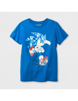 Boys' Sonic Pixel Short Sleeve T Shirt   Royal Blue by Shop All Sega