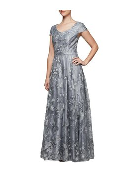 Sequin Embroidered Ballgown by Generic