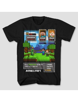 Boys' Minecraft Short Sleeve T Shirt   Black by Shop All Minecraft