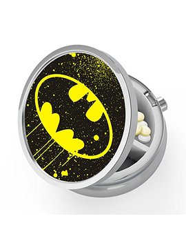 Pill Organizer, Pocket Size Pill Box, Batman Small Pill Case And Organizer, Perfect For Purse   Travel by Pocoolo