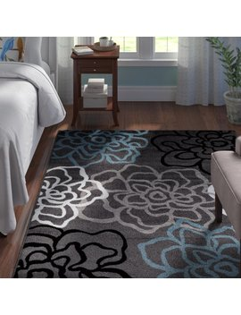 Andover Mills Shiflett Gray/Blue Area Rug & Reviews by Andover Mills