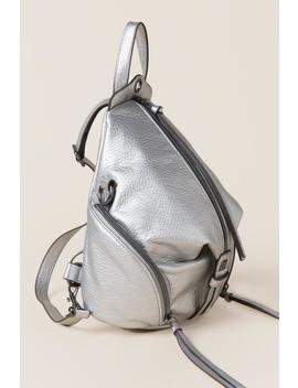 Christina Metallic Front Zip Mini Backpack by Francesca's