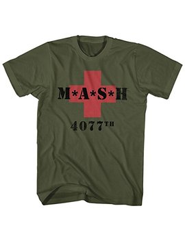 Mash Men's M.A.S.H. 4077th Red Cross T Shirt by American Classics