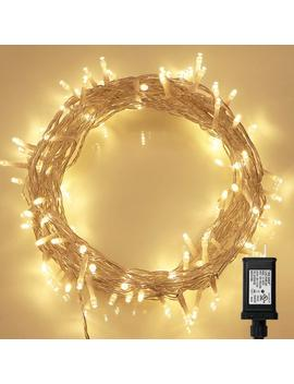 String Lights, 100 Led Indoor Fairy Lights With [Remote] &[Timer] On 36ft Clear String For Bedroom, Patio, Garden, Gate, Yard, Party, Wedding (8 Modes, Dimmable, Low Voltage Plug, Warm White) by Koopower