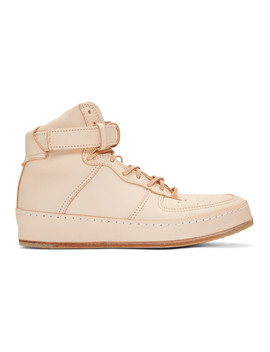 Beige Manual Industrial Products 01 High Top Sneakers by Hender Scheme