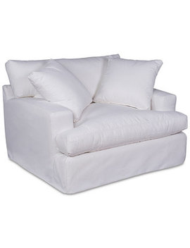"Brenalee 53"" Performance Fabric Slipcover Chair And 1/2 by Brenalee Performance Fabric Slipcover Sofa Collection"