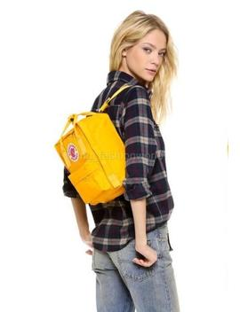 New Women Kids Fjallraven Backpack Kanken Mini 23561 Bag Handbag Warm Yellow by Fjällräven
