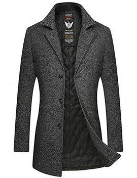 Herren Wollmischung Mantel Slim Fit Warmbody Winter Jacke Von Youthup by Amazon