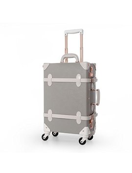 "Uniwalker Ladies Grey Hardside Pu Leather Luggage Carry On Wheeled Luggage (20"", Grey) by Uniwalker"