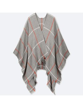 Women Windowpane 2 Way Stole by Uniqlo