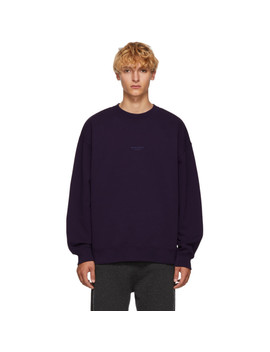 Purple Distressed Logo Sweatshirt by Acne Studios