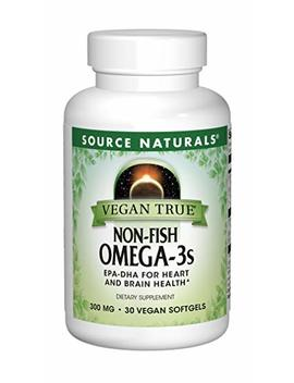 Source Naturals Vegan True Non Fish Omega 3s Epa Dha For Heart And Brain Health, (30 Capsules) by Source Naturals