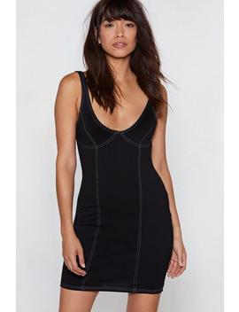 Not Sew Fast Stitch Dress by Nasty Gal