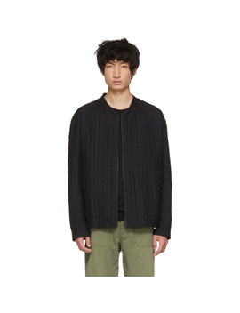 Reversible Black Stitch Dfc Zip Up Sweater by Issey Miyake Men