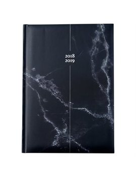 2018 2019 Embossed Softcover Academic Agenda Marble Black by Pierre Belvedere
