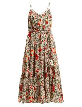 Lea Floral Print Cotton Dress by Rhode Resort