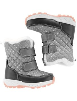 Carter's Polka Dot Snow Boots by Oshkosh