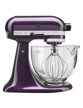 Kitchen Aid Ksm155 Gbpb 5 Qt. Artisan Design Series With Glass Bowl   Plumberry by Kitchen Aid