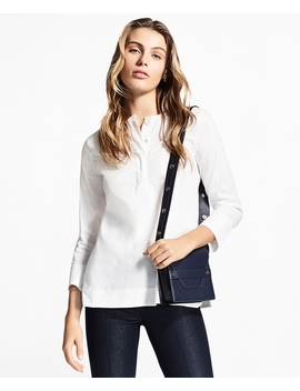 Stretch Cotton Poplin Tunic by Brooks Brothers