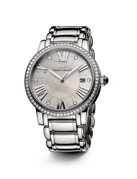 Classic 38mm Stainless Steel Quartz With Diamond Bezel by David Yurman