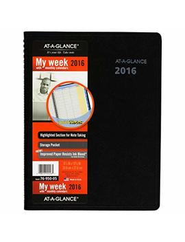 At A Glance Quick Notes Weekly Monthly Appointment Book Planner 2017 8.25 X 10.88, Black (7695005) by At A Glance