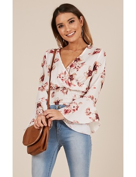 Dear Darling Top In White Floral by Showpo Fashion