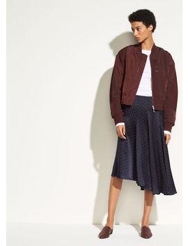 Leaf Foulard Asymmetric Skirt by Vince