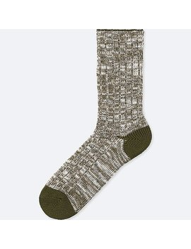 Men Slub Socks by Uniqlo