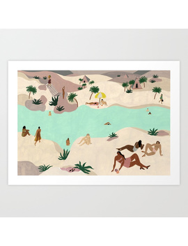 River In The Desert Art Print by