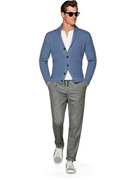 Light Blue Cardigan by Suitsupply