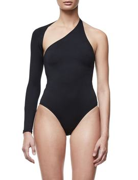 Good Body Asymmetrical Bodysuit (Regular & Plus Size) by Good American