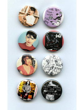 Riot Grrrl Kathleen Hanna Punk 8 Button Pack by Button Grrl