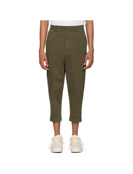 Green Oversized Carrot Trousers by Ami Alexandre Mattiussi