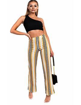 Ikrush Ninna High Waist Striped Trousers by Amazon
