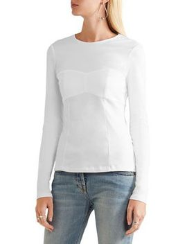 Paneled Cotton Jersey Top by Tibi