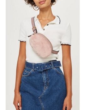 Round Faux Fur Bumbag by Topshop