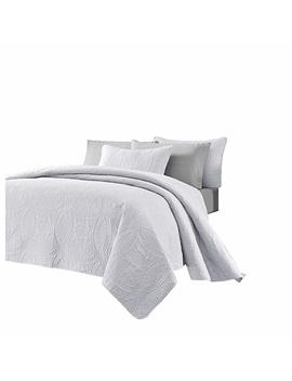 """Chezmoi Collection 3 Piece 118 By 106"""" Austin Oversized Bedspread Coverlet Set, King, White by Amazon"""