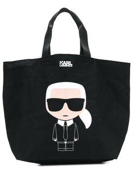 K/Ikonik Canvas Bag by Karl Lagerfeld
