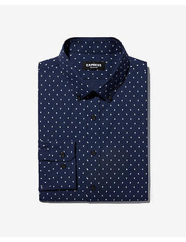 Slim Diamond Performance Button Down Dress Shirt by Express