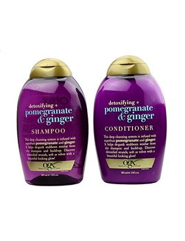 Ogx Detoxifying + Pomegranate & Ginger Shampoo 13 Oz And Conditioner 13 Oz Set by Organix