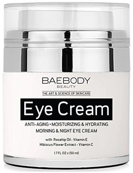 Baebody Eye Cream Rosehip Hibiscus For Appearance Of Fine Lines, Wrinkles, Dark Circles, And Bags   For Under And Around Eyes   1.7 Fl Oz by Baebody