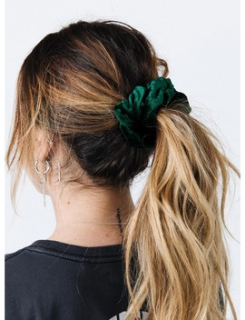 Emerald Velvet Scrunchie by Princess Polly