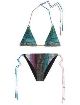 Printed Triangle Bikini by Missoni