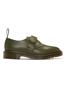 Khaki Engineered Garments Edition 1461 Smith Derbys by Dr. Martens