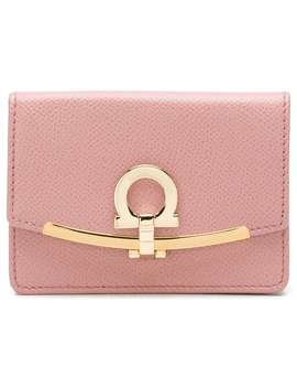 Salvatore Ferragamo Gancini Card Holderhome Women Salvatore Ferragamo Accessories Wallets & Purses by Salvatore Ferragamo