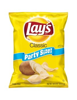 Lay's Potato Chips Party Size, Classic, 15.25 Oz by Lay's