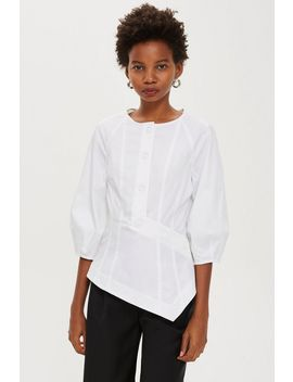 **Button Front Blouse Top By Boutique by Topshop