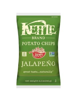 Kettle Brand Potato Chips, Jalapeno, 8.5 Oz by Kettle Brand