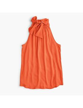 Tall Tie Neck Top by J.Crew